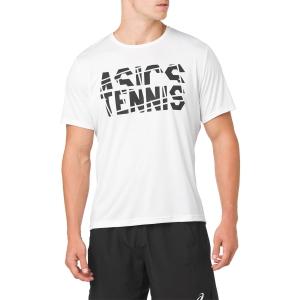Camisetas de Tenis Hombre Asics Practice TShirt  White 2041A033.100