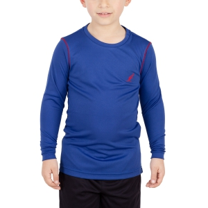 Tennis Polo and Shirts Australian Boy Ace Shirt  Blue/Red I8077545B54