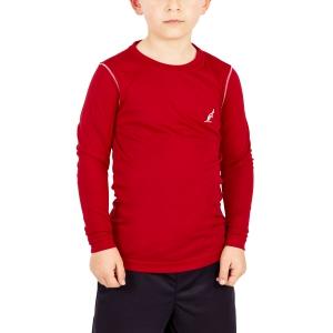 Polo e Shirts Tennis Australian Boy Ace Shirt  Red/White I8077545930