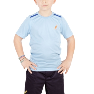 Polos y Camisetas de Tenis Australian Boy Ace Performance TShirt  Light Blue/Blue 77568440