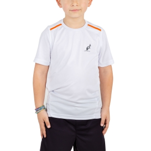 Polos y Camisetas de Tenis Australian Boy Ace Performance TShirt  White/Orange 77568022