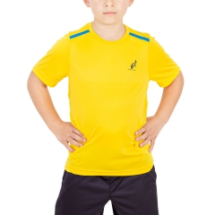 Australian Australian Boy Ace Performance TShirt  Yellow/Light Blue  Yellow/Light Blue 77568954