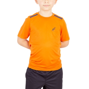 Polos y Camisetas de Tenis Australian Boy Ace Performance TShirt  Orange/Blue 77568155