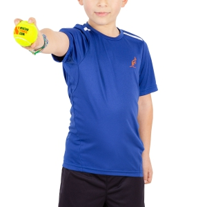 Polo e Shirts Tennis Australian Boy Ace Performance TShirt  Blue/White 77568B54