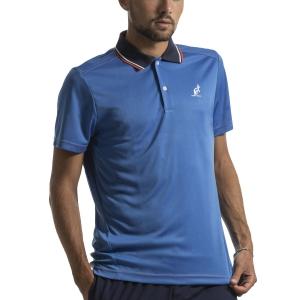 Polo Tennis Uomo Australian Ace Polo  Blu Zaffiro I9078216809