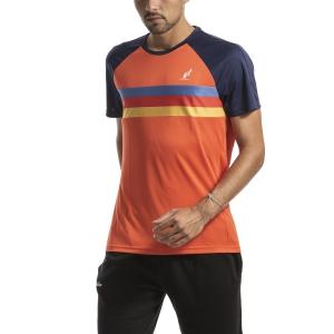 Maglietta Tennis Uomo Australian Ace Stripes Maglietta  Arancio I9078501149