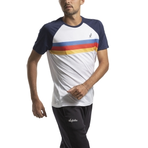 Camisetas de Tenis Hombre Australian Ace Stripes Camiseta  Bianco I9078501002