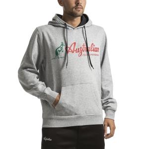Men's Tennis Shirts and Hoodies Australian Big Logo Hoodie  Grigio Melange I9088634102