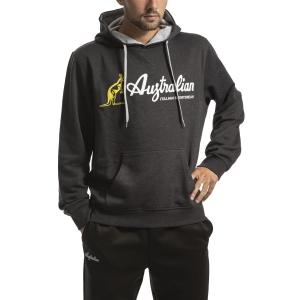 Men's Tennis Shirts and Hoodies Australian Big Logo Hoodie  Gray I908863495M