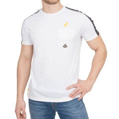 Australian Australian for Roy Roger's Ace TShirt  White/Navy/Yellow  White/Navy/Yellow 78582002