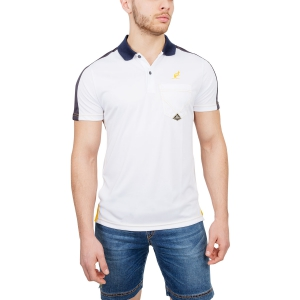 Polo Tenis Hombre Australian for Roy Roger's Ace Polo  White/Navy/Yellow 78386002
