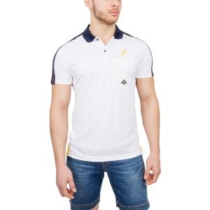 Polo Tennis Uomo Australian for Roy Roger's Ace Polo  White/Navy/Yellow 78386002