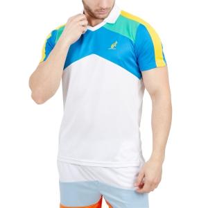 Polo Tennis Uomo Australian Performance Ace Graphic Polo  White 78300002