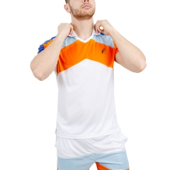 Australian Australian Performance Ace Graphic Polo  White/Orange/Light Blue  White/Orange/Light Blue 78300155