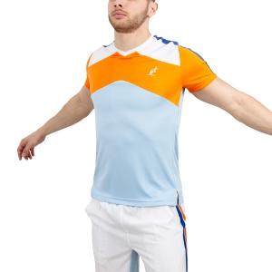 Maglietta Tennis Uomo Australian Performance Ace TShirt  Light Blue/Orange/White 78524440