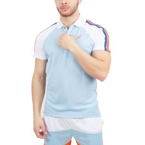 Polo Tennis Uomo Australian Performance Ace Polo  Light Blue/White 78383440