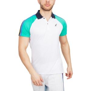 Polo Tennis Uomo Australian Performance Ace Polo  White/Green 78383002
