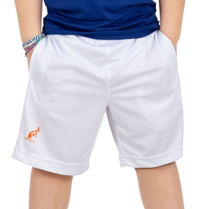 Tennis Shorts and Pants for Boys Australian Boy Performance Ace 7in Shorts  White 77021022