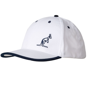 Tennis Hats and Visors Australian Performance Cap  White/Navy 29405002