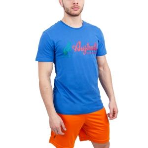 Maglietta Tennis Uomo Australian Vintage Logo TShirt  Light Blue/Red 78506ITA
