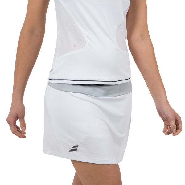 bea9bd9d7e Babolat Core Women's Tennis Long Skirt - White/Grey