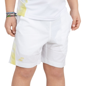 Men's Tennis Shorts Babolat Boy Performance 5.5in Shorts  White/Yellow 2BS190611025