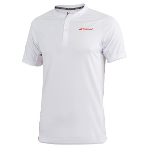 Polo Tenis Hombre Babolat Performance Polo  White/Red 2MS190211024