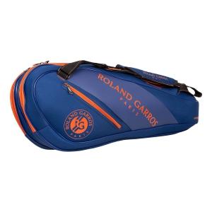 Tennis Bag Babolat French Open Expandable Bag  Blue/Orange 751198655