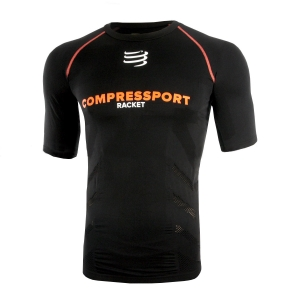 Accessorios Jugadores Compressport Racket On/Off Compression TShirt  Black TSRKTSS99