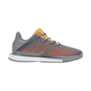 Men`s Tennis Shoes Adidas SoleMatch Bounce  Grey Three/Flash Orange EF0572
