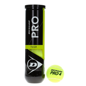 Dunlop Tennis Balls Dunlop Pro Tour  4 Ball Tube 601331
