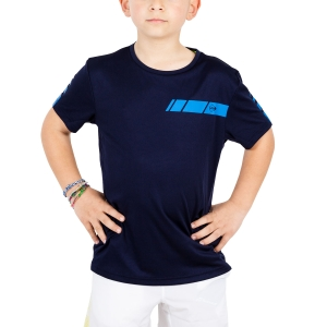 Tennis Polo and Shirts Dunlop Junior Club Crew TShirt  Navy/Blue 71389