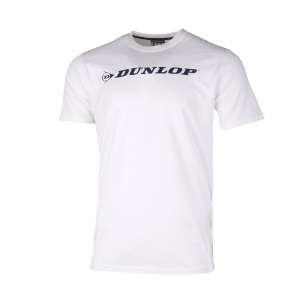 Tennis Polo and Shirts Dunlop Boy Essentials Crew TShirt  White/Black 70609
