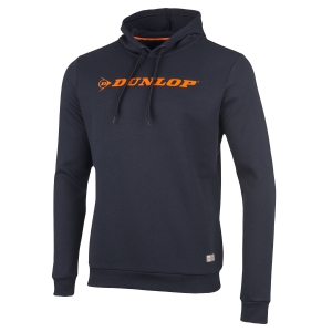 Maglie e Felpe Tennis Uomo Dunlop Essentials Hoodie  Navy/Orange 71419