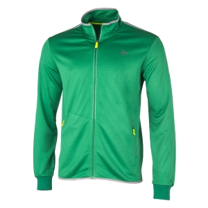 Men's Tennis Jackets Dunlop Club Knitted Jacket  Green/Silver 71349