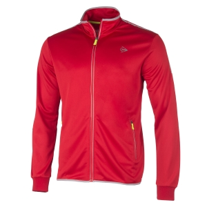 Men's Tennis Jackets Dunlop Club Knitted Jacket  Red/Silver 71348