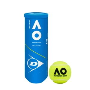Dunlop Tennis Balls Dunlop Australian Open  3 Ball Can 601354