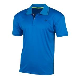 Polo Tennis Uomo Dunlop Club Polo  Light Blue/Navy 71337