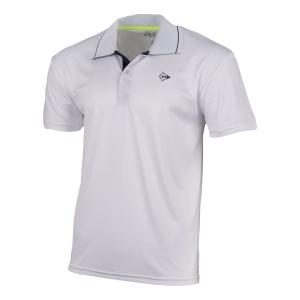 Polo Tennis Uomo Dunlop Club Polo  White/Navy 71338