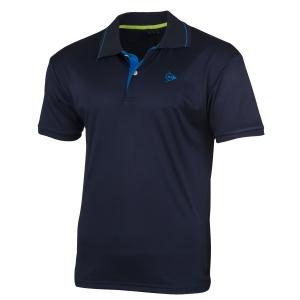 Polo Tennis Uomo Dunlop Club Polo  Navy/Light Blue 71336