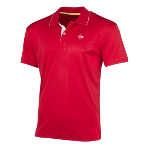 Men's Tennis Polo Dunlop Club Polo  Red/White 71339