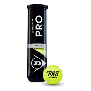 Dunlop Tennis Balls Dunlop Pro Coach  4 Ball Can 601329
