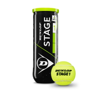 Dunlop Tennis Balls Dunlop Stage 1 Green  3 Ball Can 601338