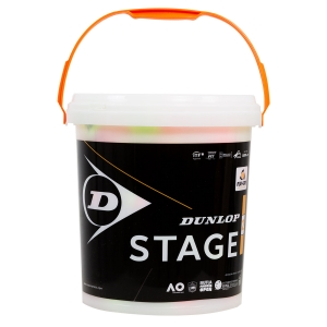 Dunlop Tennis Balls Dunlop Stage 2 Orange  60Ball Bucket 601343