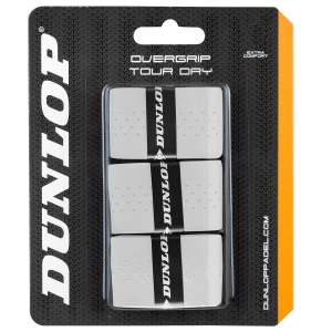 Padel Accessories Dunlop Padel Tour Dry x 3 Overgrip  White 623804