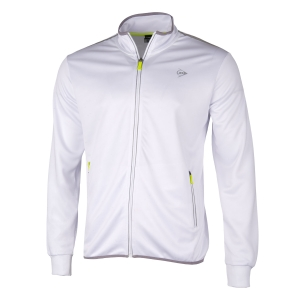 Men's Tennis Jackets Dunlop Club Knitted Jacket  White/Silver 71347
