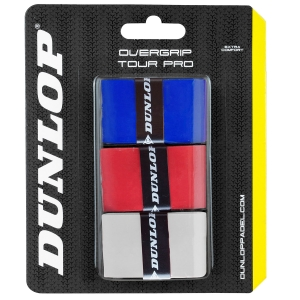 Padel Accessories Dunlop Padel Tour Pro Overgrip x3  White/Red/Blue 623803