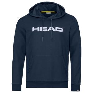 Men's Tennis Shirts and Hoodies Head Club Byron Hoodie  Dark Blue/White 811449DBWH