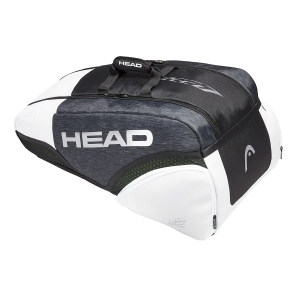 Tennis Bag Head Djokovic Speed x 9 Supercombi Bag  Black/Grey/White 283019 BKWH