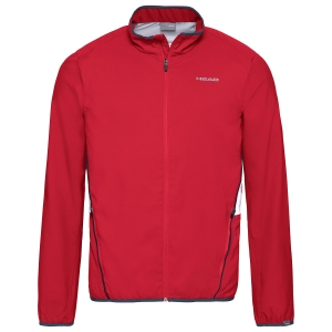 Men's Tennis Jackets Head Club Jacket  Red 811309RD